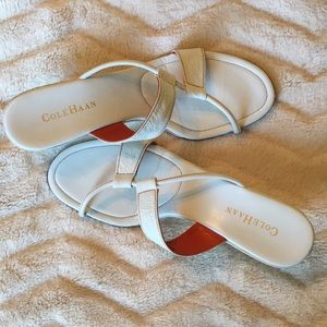 Cole Haan white wedge sandals